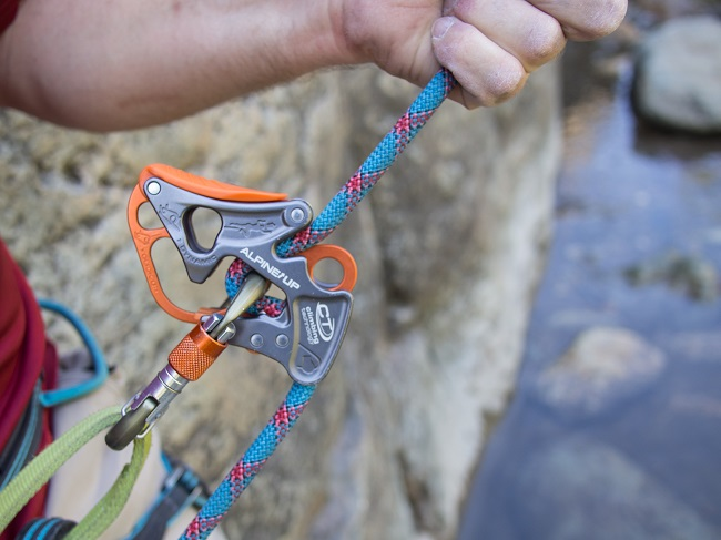 Rappel Device and Locking Carabiner
