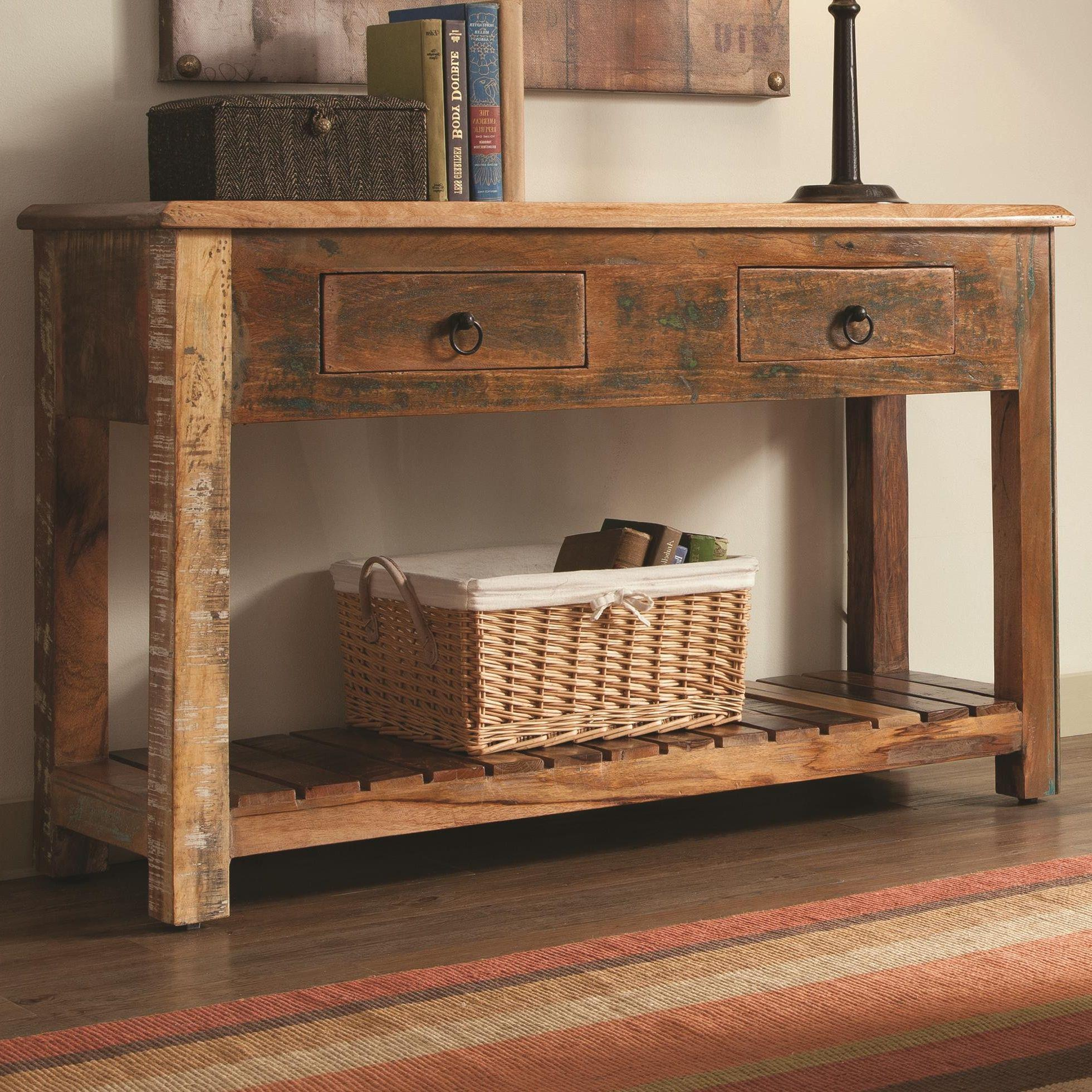 wood console table a great way to practice the art of decor