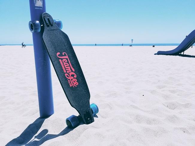 eboard on beach