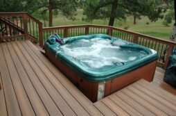 Outdoor swimming spa