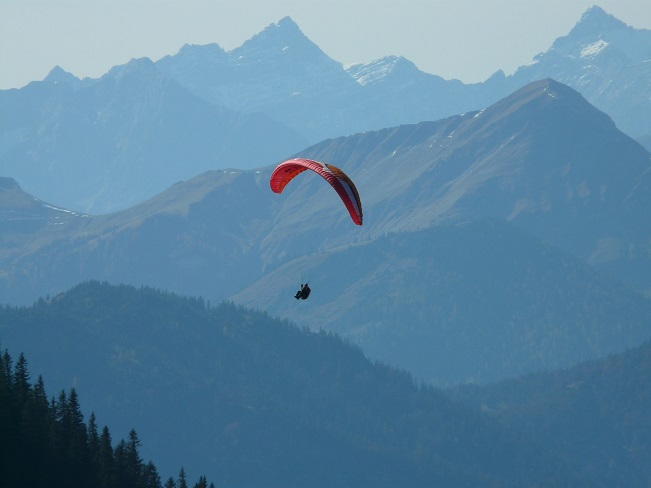 guy paragliding