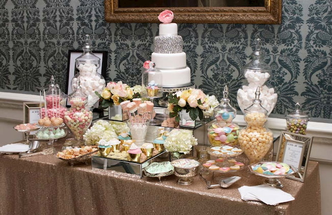 Pastel-gold-dessert-sweet-table