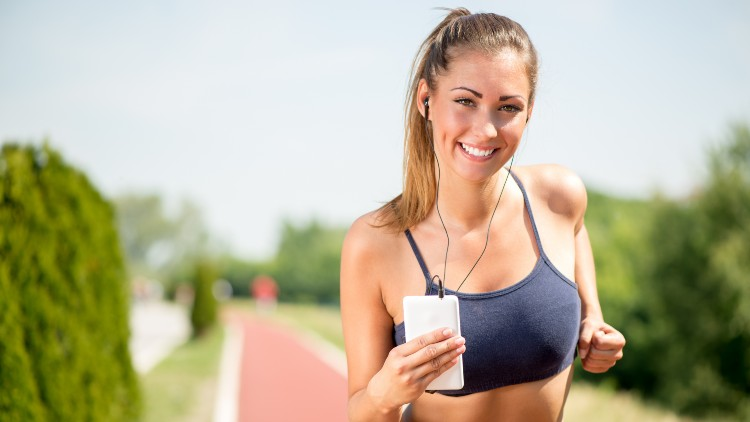 workout smiling girl outdoor