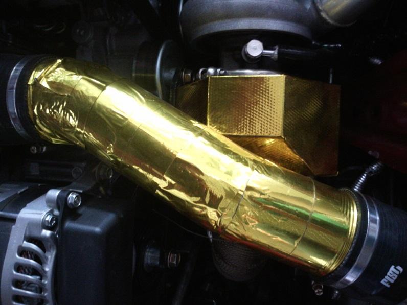 golden heat shield