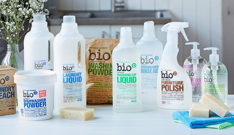 bio cleaning products on flat surface