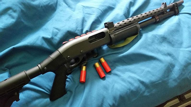 gun with heat shield