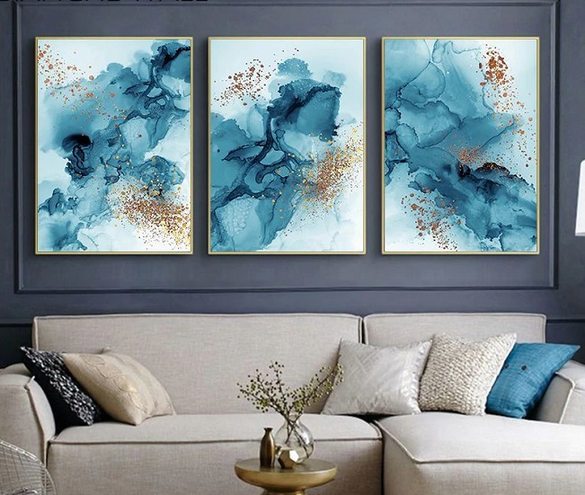 Abstract blue posters