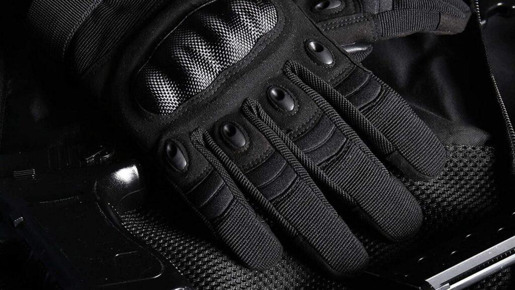 police black tactical gloves