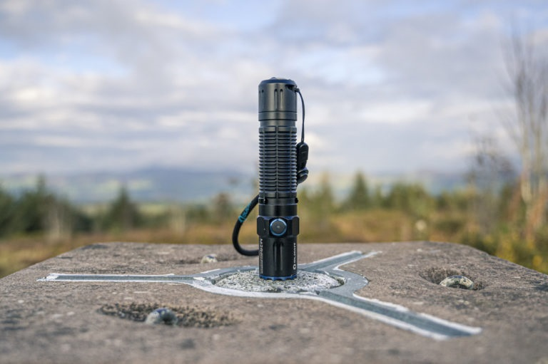 picture of a rechargeable Olight flashlight