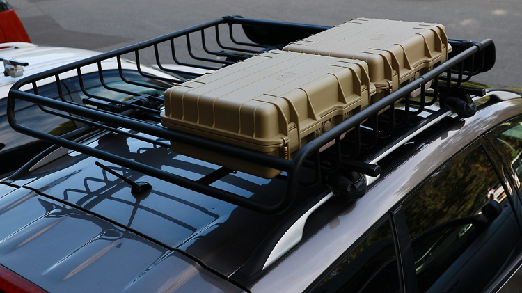 car basket on car