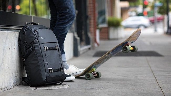 skateboarding backpack storage